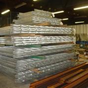 Stacks of galvanized railing