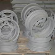 sandblasted wheels